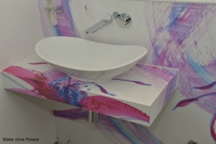 Mönius, Badgestaltung Nürnberg, Bäder ohne Fliesen, Waschbecken