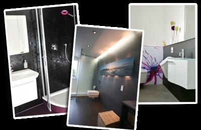 Mönius, Badezimmer Nürnberg, Collage Badezimmer, Bäder ohne Fliesen, Badezimmer Neuheiten, Badezimmer Inspiration, Collage